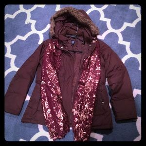 GAP winter coat and scarf